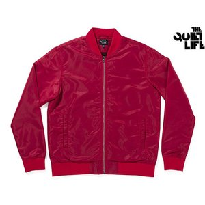 THE QUIET LIFE MIDDLE OF NOWHERE SATIN JACKET RED クワイエットライフ ミドルオブノーウェアーサテンジャケット 17SPD1-1109|passover