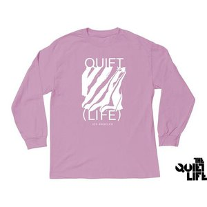 THE QUIET LIFE SMEAR LONG SLEEVE TEE PINK クワイエットライフ シミアー ロングスリーブティー ピンク 17SUM-1105|passover