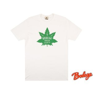 BODEGA GREEN LEAFS TEE WHITE ボデガ グリーンリーフスティー ホワイト|passover