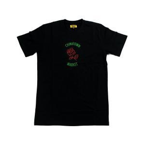 CHINATOWN MARKET ROSE TEE BLACK チャイナタウンマーケット ローズ ティー ブラック|passover