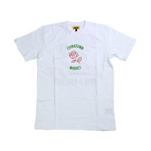 CHINATOWN MARKET ROSE TEE WHITE チャイナタウンマーケット ローズ ティー ホワイト|passover
