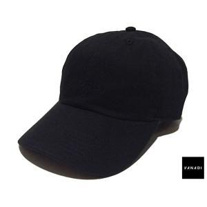 VANADI EMBROIDERED LOGO 6 PANEL CAP BLACK ヴァナディ エンブロイダード ロゴ 6 パネル キャップ ブラック|passover
