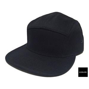 VANADI PATCHED BACK LOGO 5 PANEL CAP BLACK ヴァナディ パッチド バック ロゴ 5 パネル キャップ ブラック|passover