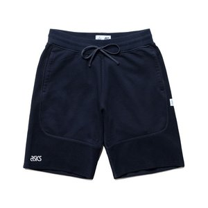 期間限定ポイント10倍 ASICS x REIGNING CHAMP SWEAT SHORT NAVY|passover