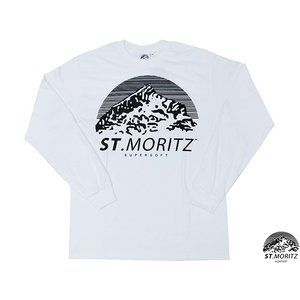 ST.MORITZ SUPERSOFT CLASSIC LONG SLEEVE TEE WHITE サンモリッツスーパーソフト クラシックロングスリーブティー SMSS002-WHITE|passover