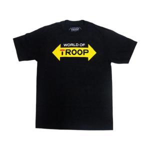 TROOP LOGO TEE BLACK トゥループ ロゴティー ブラック|passover