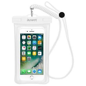 白) 防水ケース Auwet【指紋認証対応】iPhone X/8/7/6/Plus 水面上にフローテ...
