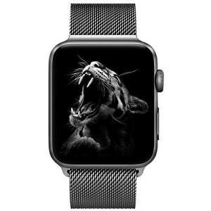 42mm/44mm スペースグレー) BRG コンパチブル apple watch バンド ミラネー...