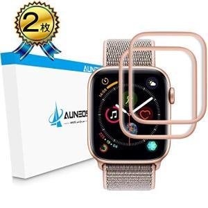 Series4 44mm 2枚ローズゴールド)『6D全面粘着』AUNEOS Apple Watch ...