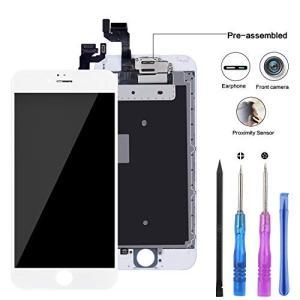 新型 YPLANG iPhone 6s フロントパネル 液晶パネル フロントカメラ部品付き 修理用交換用LCD