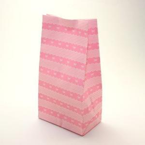 Co48スクエアバッグS レースリボン 100枚ラッピング 用品 袋 プレゼント 紙 包装 製菓用品 クッキー マフィン|pastreet