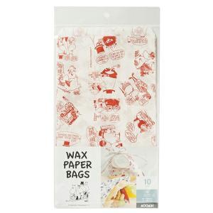 MM521 ワックスバッグ ムーミン レッド 10枚 メール便メール便対応個数:5個までラッピング 用品 袋 プレゼント 包装 お菓子 手作り 製菓用品 pastreet