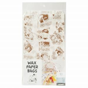 MM522 ワックスバッグ ムーミン ブラウン 10枚 メール便メール便対応個数:5個までラッピング 用品 袋 プレゼント 包装 お菓子 手作り 製菓用品|pastreet