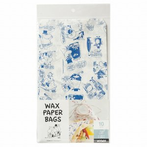 MM523 ワックスバッグ ムーミン ネイビー 10枚 メール便メール便対応個数:5個までラッピング 用品 袋 プレゼント 包装 お菓子 手作り 製菓用品 pastreet
