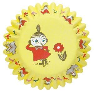 MM528 ケーキカップ底径50mm リトルミィ YE 12枚ベーキングカップ ムーミン ペットカップ ケーキ型 焼型 紙製 お菓子 手作り 製菓用品 pastreet