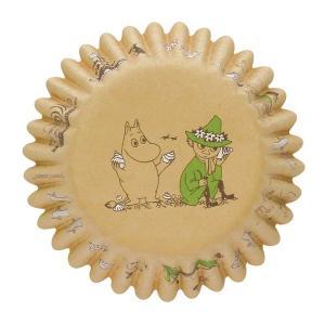 MM529 ケーキカップ底径50mm クラフト ビーチ 12枚ベーキングカップ ムーミン ペットカップ ケーキ型 焼型 紙製 お菓子 手作り 製菓用品 pastreet