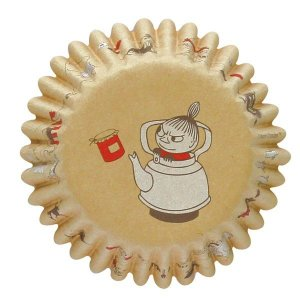 MM530 ケーキカップ底径50mm クラフト リトルミィ ポット 12枚ベーキングカップ ムーミン ペットカップ ケーキ型 焼型 紙製 お菓子 手作り 製菓用品 pastreet