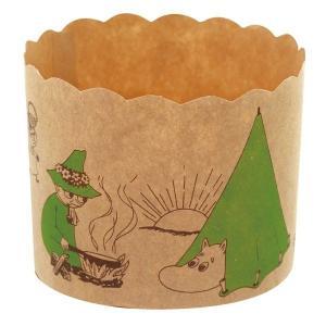 MM533 マフィンカップM クラフト キャンプ 6枚マフィンカップ ムーミン マフィン型 ベーキングカップ 紙製 焼型 ケーキカップ ギフト プレゼント お菓子 手作り pastreet