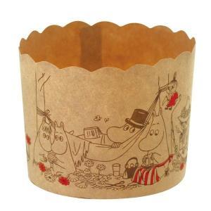 MM534 マフィンカップM クラフト ピクニック 6枚マフィンカップ ムーミン マフィン型 ベーキングカップ 紙製 焼型 ケーキカップ ギフト プレゼント お菓子 pastreet