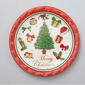 PT364 紙皿8枚入 メリークリスマスラッピング 用品 袋...