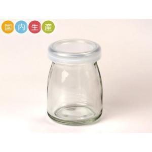 ミルクボトル 5個セット(本体+蓋) 90cc 無地 Y90CL ヨーグルト90 BOX付き ふた付 プリン 牛乳瓶 保存瓶 ガラス容器 ヨーグルト瓶 ミルク瓶 ジャム瓶|pastreet