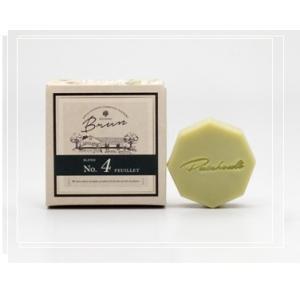 パチュリブリュンシリーズNo4はアロマの香り漂うブレンド石鹸。  テーマは森の香り。  森林浴をして...