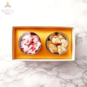 モンテローザ 円筒 ギフト 2個入  贈り物 最適 手作りクッキー オリジナルギフトBOX のし対応あり|patisserie-monterosa