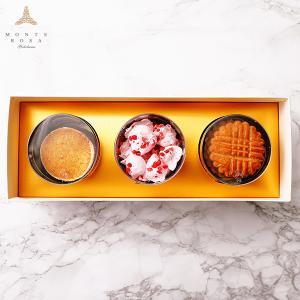 モンテローザ 円筒 ギフト 3個入  贈り物 最適 手作りクッキー オリジナルギフトBOX のし対応あり|patisserie-monterosa