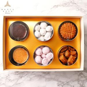 モンテローザ 円筒 ギフト 6個入  贈り物 最適 手作りクッキー オリジナルギフトBOX のし対応あり|patisserie-monterosa