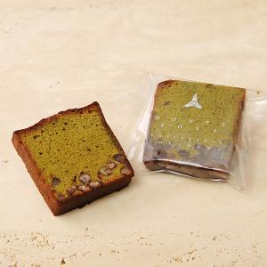 ケーク・テ・ベール 大納言小豆をしのばせた豊かな香りをお楽しいただける抹茶のケーク|patisserie-monterosa
