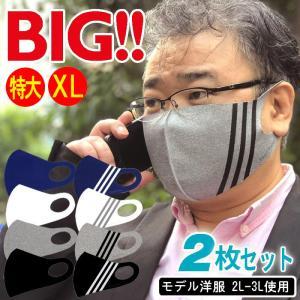 マスク 大きいサイズ 特大 ll xl 男性 2枚セットの画像