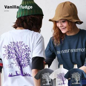 (バニラファッジ) Vanilla fudge 半袖 Tシャツ ロゴ&プリント ボックスシルエット 中肉厚 スラブ天竺 40代 50代|paty