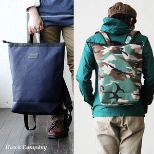 (ホークカンパニー) HAWK COMPANY リュック しっかりキャンバス 2WAYデザイン 手提げバッグ クッションストラップ 40代 50代|paty