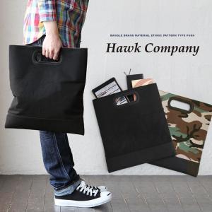 (ホークカンパニー) HAWK COMPANY クラッチバッグ キャンバス PUレザー 手提げバッグ 40代 50代|paty