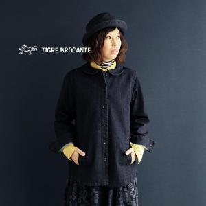 (ティグルブロカンテ) TIGRE BROCANTE ジャケット デニムジャケット 日本製 ラウンドカラー 40代 50代 paty