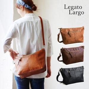 (レガートラルゴ) Legato Largo ショルダー バッグ PUレザー レディース ブラック ブラウン キャメル ネイビー 鞄 A4 春 夏  レディース|paty