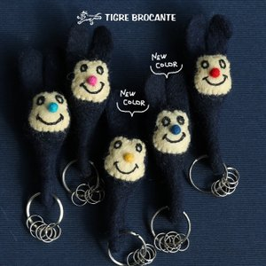 (ティグルブロカンテ) TIGRE BROCANTE ハンドメイド キーホルダーナッティーキーリング 付き 40代 50代|paty