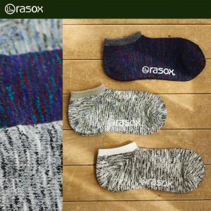 ソックス 靴下 スラブミックススロウ 日本製 ラソックス rasox  40代 50代 paty