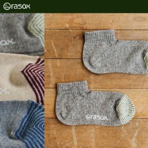 (ラソックス) rasox靴下 アンクルソックス レディース ユニセックス  コットンリネン ナチュラルロウ 40代 50代 paty