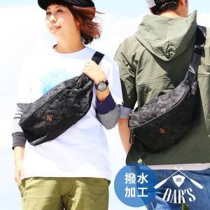 バッグ ボディバッグ 「撥水加工 軽量 ナイロン」 シャドーカモフラ柄 クッションパッド メッシュ (オールズ) OAR'S  レディース メンズ|paty