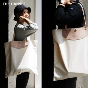 トートバッグ  キャンバス ビッグ マザーズバッグ  オフホワイト 大きめ 春 夏 メンズ レディース THE CANVET(予約販売)|paty