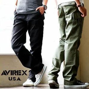 カーゴパンツミリタリーパンツ チノクロス シルエット調整ベルト (アヴィレックス) AVIREX|paty