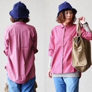 七分袖 シャツ タイプライター 生地 綿100% 国産 日本製 体型カバー タック (シーエルエヌ) C.L.N 40代 50代|paty
