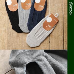 靴下 ソックス フットカバー 日本製 浅履き 脱げにくい ゴム ストッパー (ラソックス) rasox  40代 50代 paty