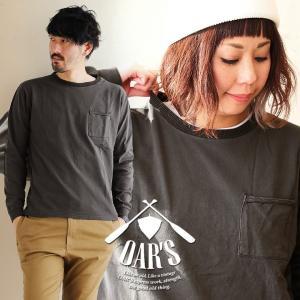 長袖 Tシャツ カットソー USAコットン ピグメント ヘリンボーンリブ 胸ポケット (オールズ) OAR'S 春 夏 40代 50代|paty