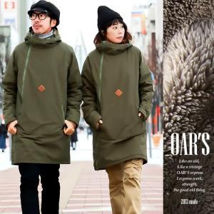(オールズ) OAR'S コート ミドル丈 アノラック風 配色 ダブルジップ 裏ボア 撥水 防風 60/40クロス (オールズ)  40代 50代