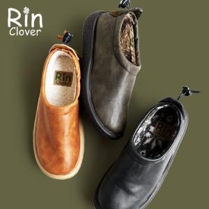 【予約販売】モックシューズ モック ブーツ 裏ボア クレープソール風 PUレザー フェイクボア レディース (リン・クローバー) Rin Clover|paty