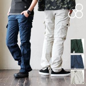 パンツ カーゴ スリム ストレッチ ジャーマンクロス ウエストアジャスター付 日本製 Johnbull 春  レディース メンズ|paty