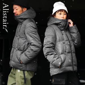 ダウンジャケット メンズ ボリュームネック フード付き 冬 軽量 保温  メンズ レディース ALISTAIR(予約販売)(先行予約特典)|paty