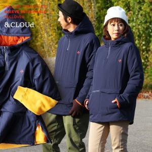 中綿 半袖 ジャケット プルオーバー 高機能中綿 サーモライト ハーフジップ (アンクラウド) &CLOUd 40代 50代|paty